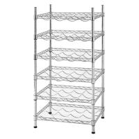 Buy cheap 12 Bottle Stackable Wine Rack Champagne Bar Accessory Metal Free Standing from wholesalers