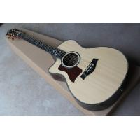 Buy cheap Taylor Ebony finggerboard 41-inch cutaway 916 natural wood color left handed acoustic guitar, Spruce,fishman pickup EQ from wholesalers