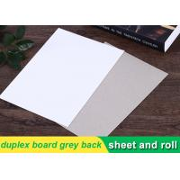 Quality 250g white duplex board Grey Back Duplex Board Paper For Printing Box for sale