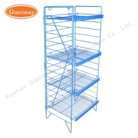 Buy cheap 4 Tire Bread Shop D406mm Wire Mesh Display Stand from wholesalers