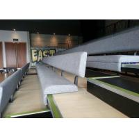 Manual Control System Retractable Grandstands Comfortable Upholstered Bench
