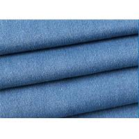 Buy cheap Blue 100% Cotton Stretch Denim Fabric 145-150cm Width With 435g/M Weight from wholesalers