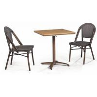 Buy cheap LJC026-TX outdoor restaurant rattan furniture set chair and table from wholesalers