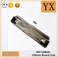 China Clipboard Accessories 120mm High Quality Checkered Nickel Plate Metal Clip on sale