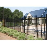 Buy cheap 1800mm*2350mm width tubular hercules fencing panels ,garrison panels rail 50mm*50mm*1.6 thick  for commerical building from wholesalers