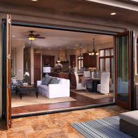 Buy cheap Exterior Commercial Aluminium Doors , Alloy Frame Folding Glass Doors For Kitchen from wholesalers