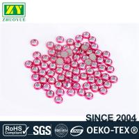 Buy cheap Pink Color Rimmed Rhinestones Glass / Alloy Material 12 - 14 Facets from wholesalers