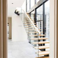 Buy cheap China Prima Custom Steel-Wood Straight Stair-Wood Treads Stainless Steel/Wrought Iron Stringer Glass Railing Designs from wholesalers