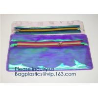 Buy cheap Custom outdoor EVA makeup pouch semi-transparent Soft Plastic toiletry bags Water proof PVC/EVA makeup organizer pack from wholesalers