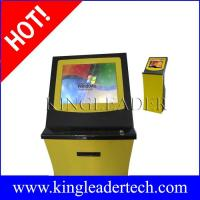 Buy cheap Ticket vending kiosks thermal printer and finger print reader   custom kiosk design from wholesalers