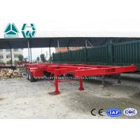 Buy cheap Professional 40 Ft Long Vehicle Skeleton Low Bed Semi Trailer 2 Axles Extendable Trailers from wholesalers
