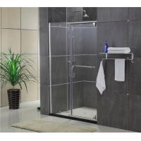 China Sliding Screen Pivot Shower Doors Self - Cleaning Glass With F Shape Handle on sale