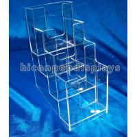 Buy cheap Brochure / Leaflet 4mm Acrylic Display Case Trade Show Brochure Stands Table Top from wholesalers