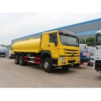 Buy cheap Yellow 6x4 18m3 Tanker Truck Water Sprinkler Truck With HW76 Lengthen Cab from wholesalers