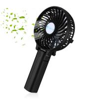 Buy cheap 3 Speed Black Rechargeable Mini Fan Outdoor Leisure Portable Air Cooling Fan from wholesalers