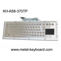 Buy cheap Stable Performance Industrial Keyboard with Touchpad 70 Keys , Metal Touchpad Keyboard from wholesalers