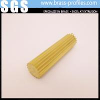 China Gear Section Brass Rod Sheet Shining Brass Rod C3800 for Decoration on sale