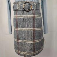 Buy cheap Thickened Women's High Waisted Plaid Skirt Anti Static For Autumn / Winter product