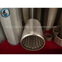 Buy cheap Vee Shape Johnson Stainless Steel Well Screens Various Construction Types from wholesalers