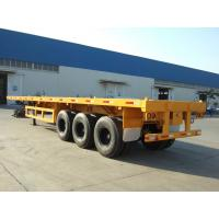 Buy cheap 3 axles 40ft container semi trailer flatbed trailer discount from wholesalers