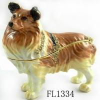 Buy cheap Small Beagle Metal Souvenir Dog Jewelry Box from wholesalers