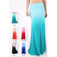 Buy cheap Pastel Color Ombre Maxi Women Dresses Skirts In Rayon Fabrics product