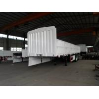 Buy cheap Fuwa Three Axle Flat Bed Side Wall Semi Trailer Trucks 40 - 50T 2.5mm Thick Chequer Plate from wholesalers