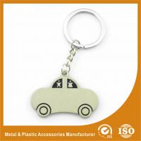Buy cheap Car Shape Custom Metal Keychains Nickel Roller / Nickel Satin from wholesalers