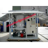 Buy cheap Transformer Oil Purifier Plant Simple oil filter, Structured And Easy Operated, degasifier, dewater,remove particulates from wholesalers