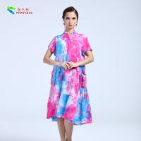 Buy cheap 100% Cotton Summer Clothing Womens Casual Summer Dresses V Neck Knee - Length from wholesalers