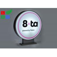 600mm Diameter LED Shop Display Acrylic Light Box Double Sided For Outdoor Branding