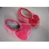 Buy cheap Knot Seam Binding Baby Girls Shoes Milk Cotton Pink Knitted Shoes For Babies from wholesalers