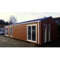 Buy cheap Modern Flat Roof Prefabricated House, Pre-built Homes Fireproof mobile home 40 hq container Laminate floor from wholesalers