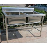 Buy cheap Corrosion Resistant Stainless Steel Display Racks Double Bowl Kitchen Sink from wholesalers