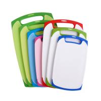 Buy cheap Dishwasher Safe Reversible Kitchen Custom Plastic Cutting Board Set Of 3 from wholesalers