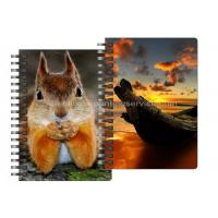 Buy cheap 0.6mm Thickness Plastic Cover Spiral 3D Lenticular Notebook 80 Pages A4/A5/A6 Size from wholesalers