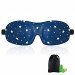 Buy cheap Woman & Man 3d Sleeping Eye Mask , Total Darkness Travel Eye Mask Free Earplugs from wholesalers