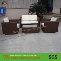 Buy cheap Cane Outdoor Wicker Furniture , 4pcs Rattan Sofa Set For Living Room from wholesalers