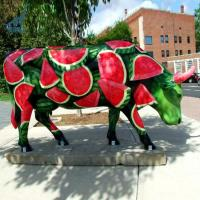 Buy cheap Fiberglass Colored Drawing Animal Sculpture Bull Statue Resin from wholesalers
