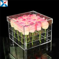 Buy cheap Durable Square Acrylic Flower Box Makeup Organizer Rose Storage Cosmetic Case from wholesalers