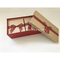 Buy cheap Fancy Empty Xmas Gift Boxes With Ribbon Bow Tied , Candy Christmas Gift Wrap Boxes from wholesalers
