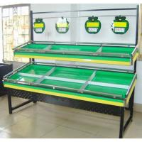 Buy cheap 3 Layers Green Metallic Fruit And Vegetable Rack Display Stands With Label from wholesalers