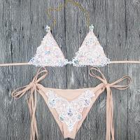 Buy cheap Wholesale and Retail 2018 New Women Sexy Mesh Diamond Triangle Bikini Set from wholesalers