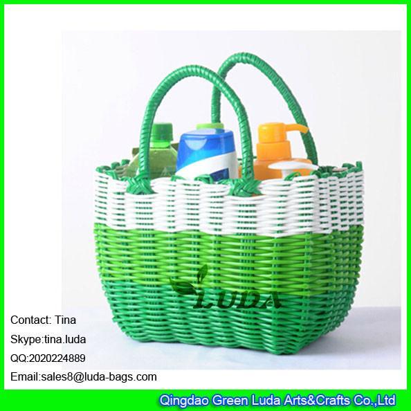 Luda Colorful Pp Tube Straw Basket Bag Cheap Pp Straw
