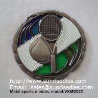 Buy cheap Transparent epoxy filled metal sports medal, hollow metal medal with color epoxy filled from wholesalers