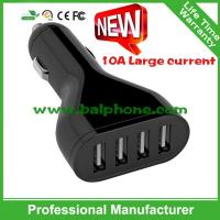 Buy cheap Quick charger 2.0 5V10A 4USB Quick car charger USB charger from wholesalers