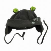 Buy cheap Baby Winter Hat with 3-D Ear Flaps, Made of Microfiber Fleece Fabric from wholesalers