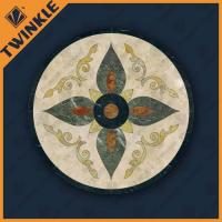 Buy cheap Natural Marble Floor Waterjet Medallions With Surface Polished For Home from wholesalers