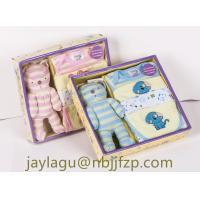 Buy cheap 100% COTTON 5PCS NEWBORN BABY GIFT SET WITH TOY/BABY CLOTHING SET from wholesalers