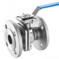 Buy cheap DIN 2pc Floating Type Stainless Steel Ball Valve With ISO5211 Direct Flange End Cf8m/SS ball valve/150LB from wholesalers